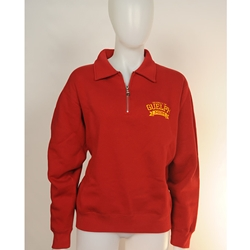 Red 1/4 Zip Mom Sweater (small)