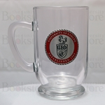 Pewter Shield Glass Mug